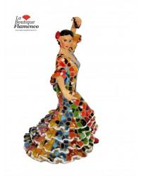 Statuette flamenca multicolore en mosaïque Barcino