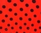 Rouge à pois noirs