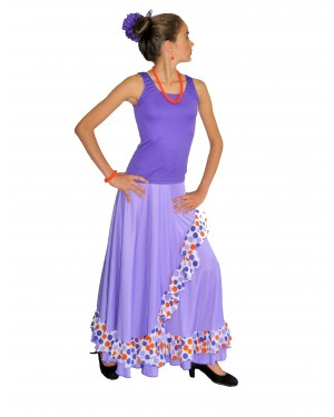 Kit flamenco fillette ensemble Lilas