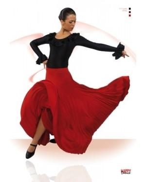 Jupe flamenco réf EF105 unicolore à personnaliser