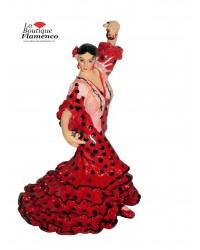 Statuette flamenca rouge en mosaïque Barcino
