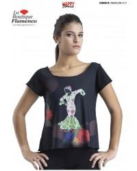 T-shirt imprimé flamenca réf 2462SU UNI-FL17