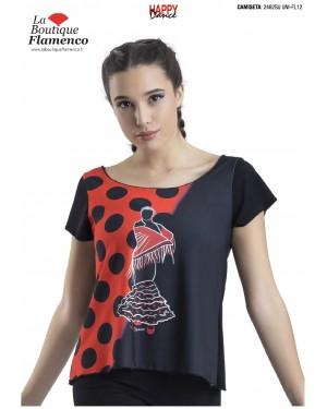 T-shirt imprimé flamenca réf 2462SU UNI-FL12