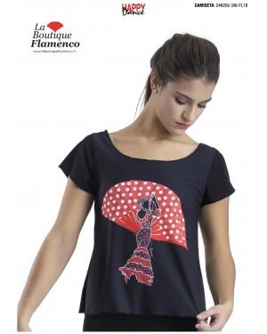 T-shirt imprimé flamenca réf 2462SU UNI-FL18