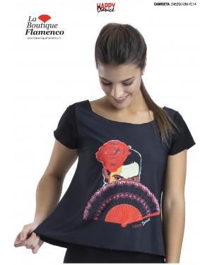 T-shirt imprimé flamenca réf 2462SU UNI-FL14