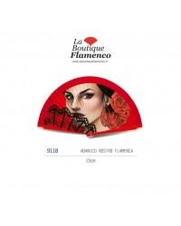 Éventail visage flamenca réf 9118