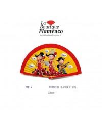 Éventail flamenquitos réf 9117