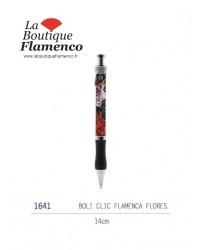 Stylo boli flamenca flores 1641