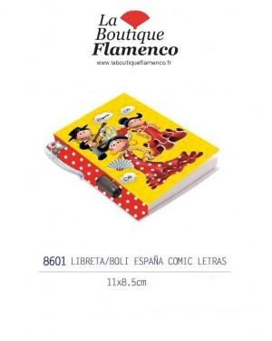 Petit Carnet de note avec stylo flamenquitos réf 8601