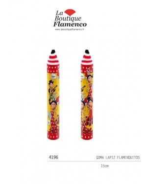 Gomme forme crayon flamenquitos réf 4196