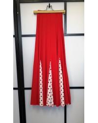 Jupe flamenco seconde main rouge pois rouges