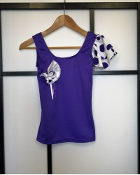 Top flamenco seconde main violet