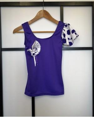 Top flamenco seconde main violet