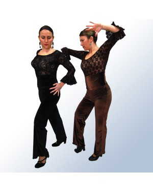 Pantalon flamenco velours