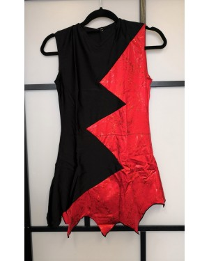Tunique gymnastique rythmique seconde main rouge/noir