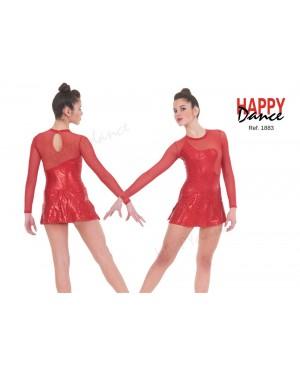 Tunique gymnastique rythmique seconde main rouge strass