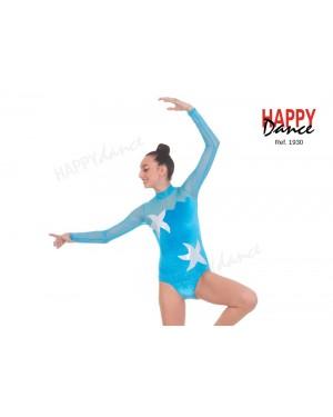 Justaucorps gymnastique/danse seconde main turquoise étoiles