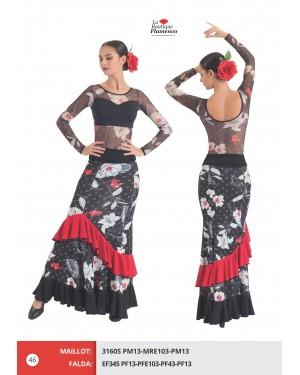 Jupe flamenco réf EF345 PFE DISPO FLASH