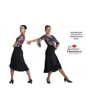 Jupe mi-longue flamenco réf EF394PF