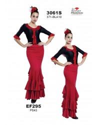 Jupe flamenco unicolore réf EF295 à personnaliser