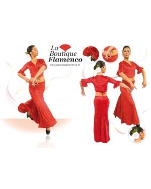Jupe flamenco réf E3953 velours à personnaliser