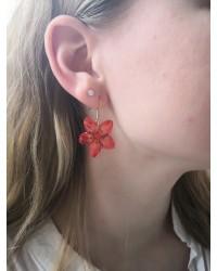 Boucles d'oreilles fleur Parnassie des Marais