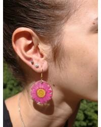 Boucles Margu soleil rose bohème