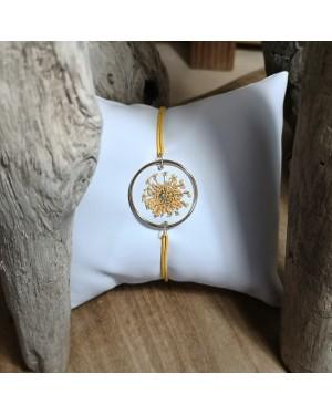 Bracelet Fleur de Dentelle ambre
