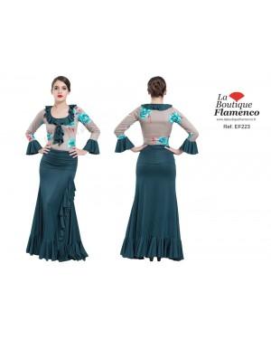 Jupe flamenco réf EF223 unicolore à personnaliser
