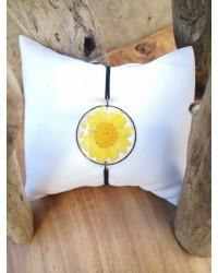 Bracelet grande Marguerite jaune soleil