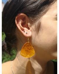 Boucles d'oreilles Pétales Pavot de Californie