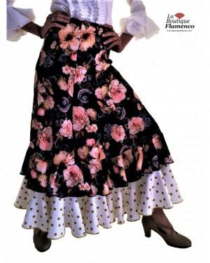 Jupe flamenco Gloria peonia lunares