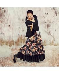 Jupe flamenco Gloria peonia