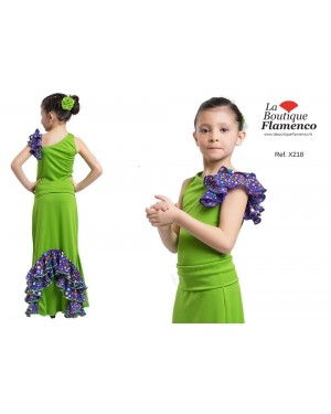 Top flamenco fillette réf X218/E à personnaliser