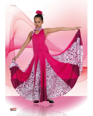 Robe flamenco/sévillane fillette réf E4454 à personnaliser