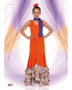 Robe flamenco/sévillane fillette réf E4294 à personnaliser